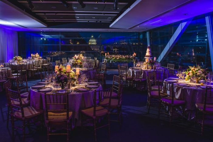 City Chic Oasis Dc Newseum Wedding Dc Wedding Venues Purple Wedding Reception Wedding