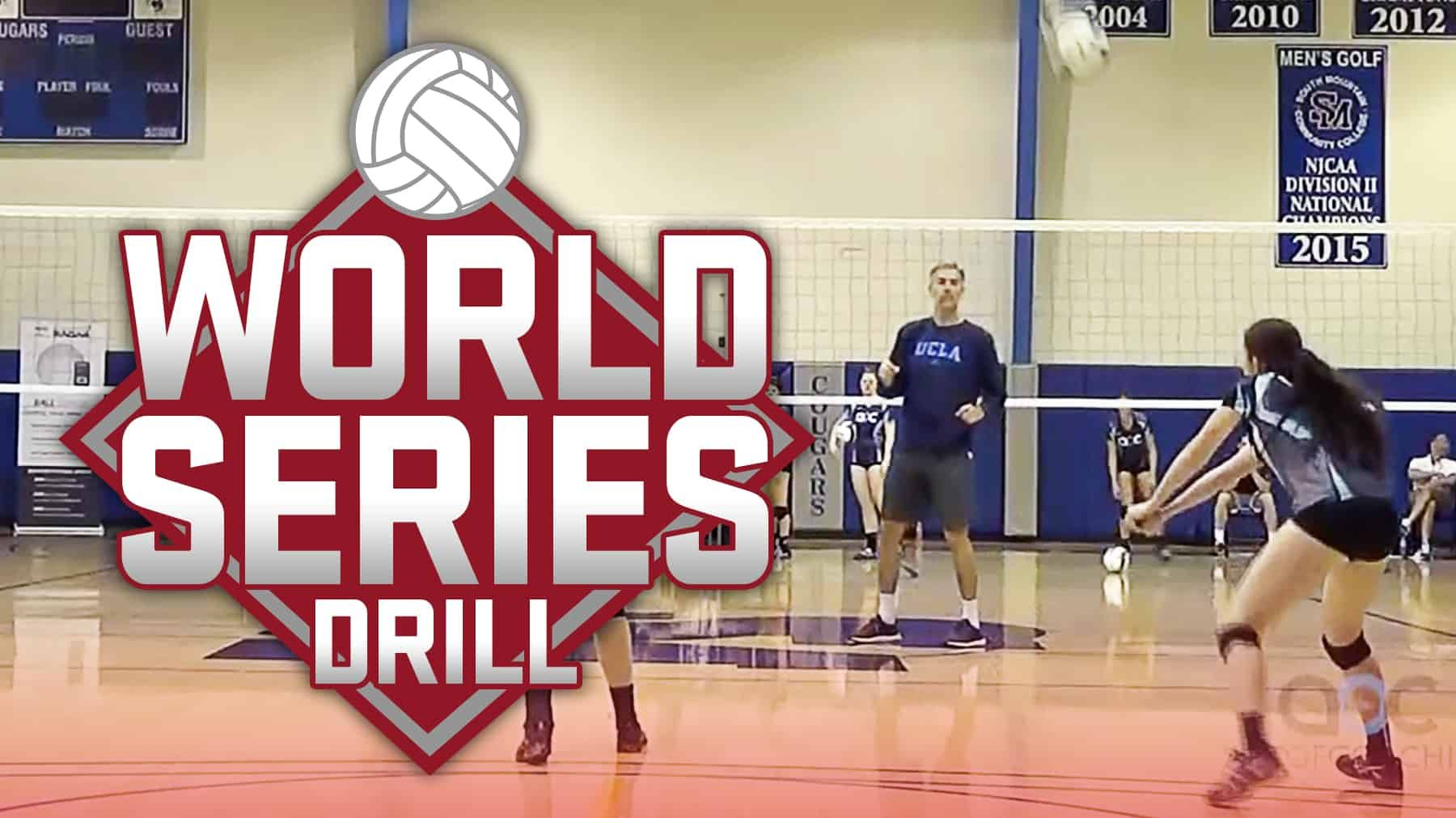 World Series Passing And Serving Drill The Art Of Coaching Volleyball Coaching Volleyball Volleyball Serving Drills Volleyball Drills