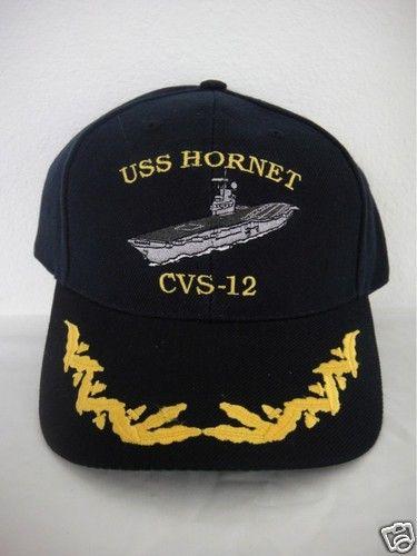 Navy captain ship ball cap USS hornet CVS-12 hat scrambled eggs