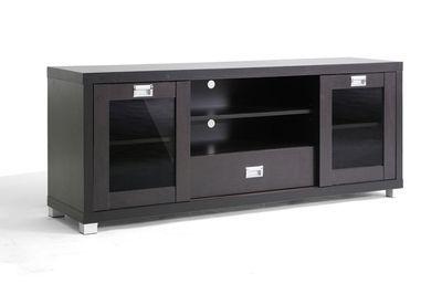 Baxton Studio Matlock Modern Tv Stand With Glass Doors Tv Stand