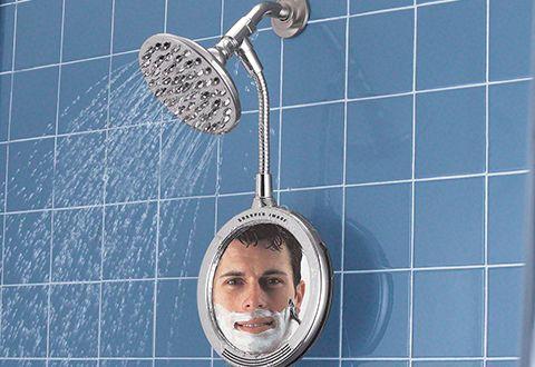 Heated Fog Free Shower Mirror @ Sharper Image