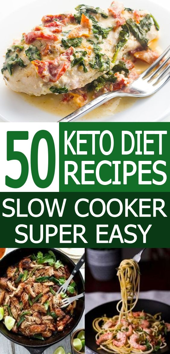 50 Keto Slow Cooker Recipes / Keto Diet / Ketogenic #ketodietforbeginners