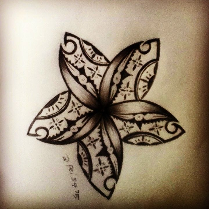 Fijian Flower Hawaiian Tattoo Traditional Tribal Flower Tattoos Hawaiian Tattoo