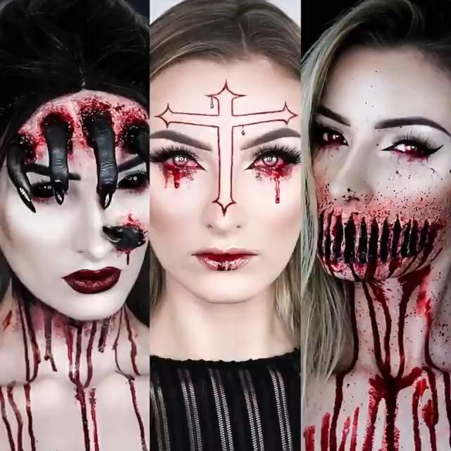 Halloween makeup tutorial | 20 scary halloween makeup ideas