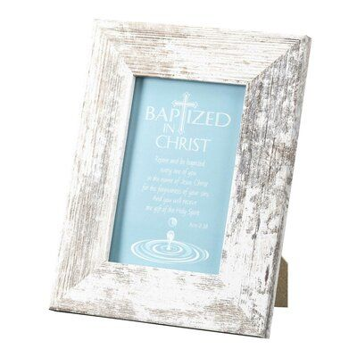 Winston Porter Michie Bapt Acts 2 38 Tabletop Picture Frame Tabletop Picture Frames Clip Picture Frame Frame