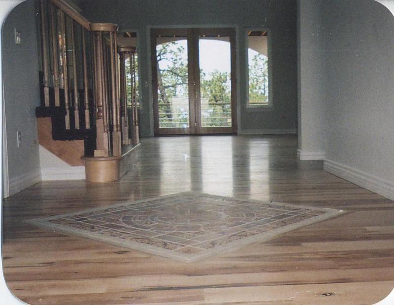 Wood And Tile Floor Combination Kendall S Custom Floors Inc Walnut Flooring