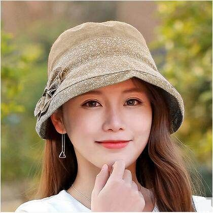 Flower bucket hat for women UV protection sun hats spring wear