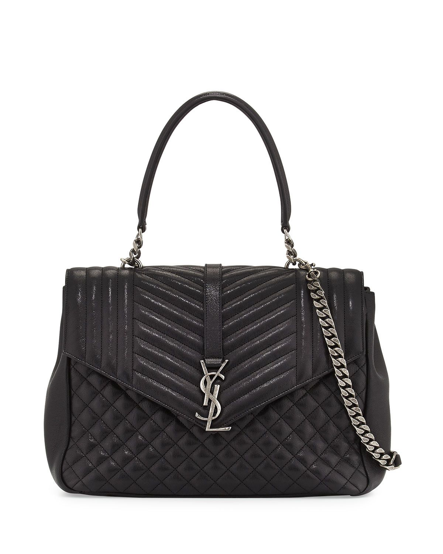 8d37b016eb Monogram Large Tri-Quilt College Shoulder Bag Black | *Neiman Marcus ...