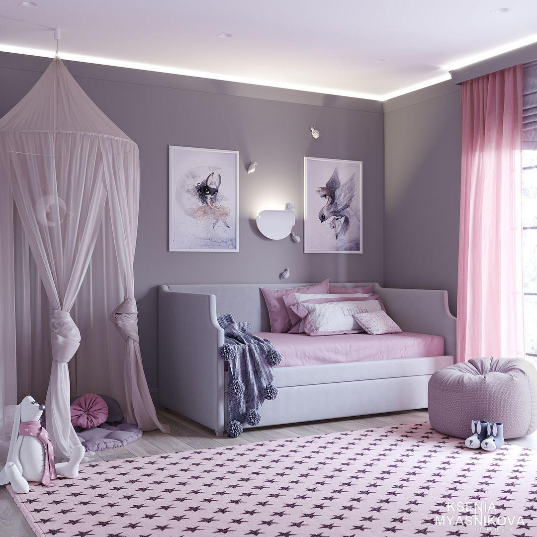 Girl\'s Room Design and Decor Inspiration! in 2019 | Girls ...
