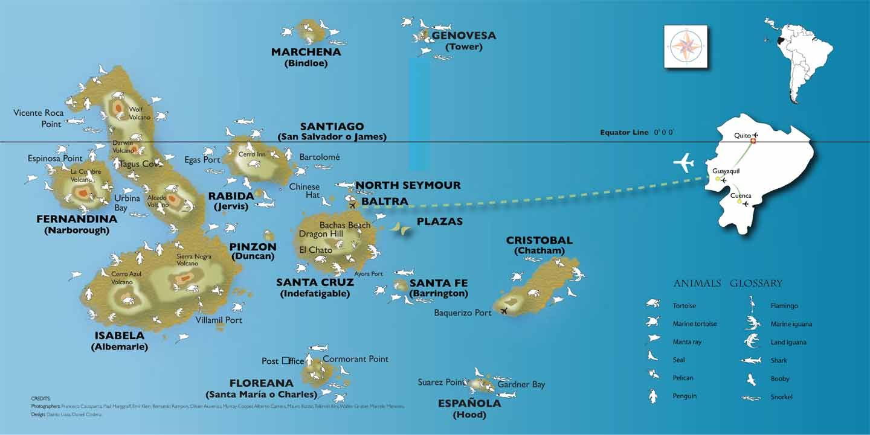 Galapagos Island Map Travel Galapagos Islands Island