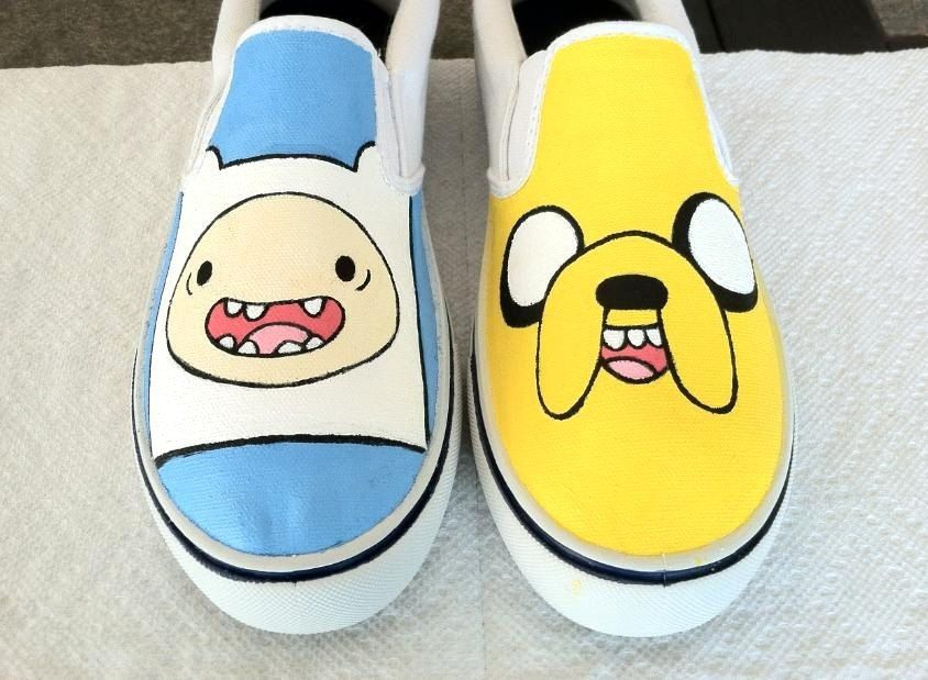 962bd4cb93 ADVENTURE TIME Finn and Jake Shoes.  70.00