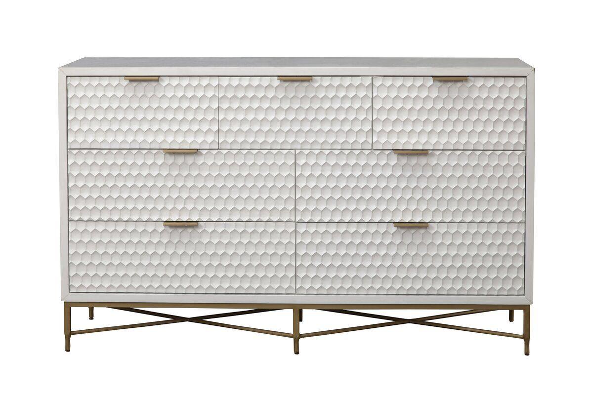 Becton 7 Drawer Double Dresser Reviews Allmodern Modern Bedroom Dressers Upholstered Panel Bed Storage Spaces [ 800 x 1200 Pixel ]