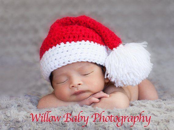c261949bd READY Christmas Baby Hat - Baby Boy Hat - Baby Girl Hat - Santa ...