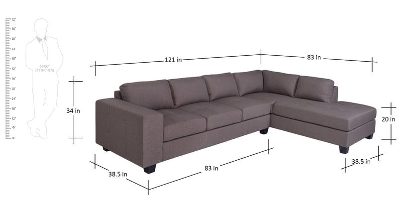 Buy Latvia Lhs Sectional Sofa In Dark Brown Colour By Evok Online Left Hand Side L Shaped Sofas L Shaped Sof Sectional Sofa Sofa Furniture Dark Brown Color