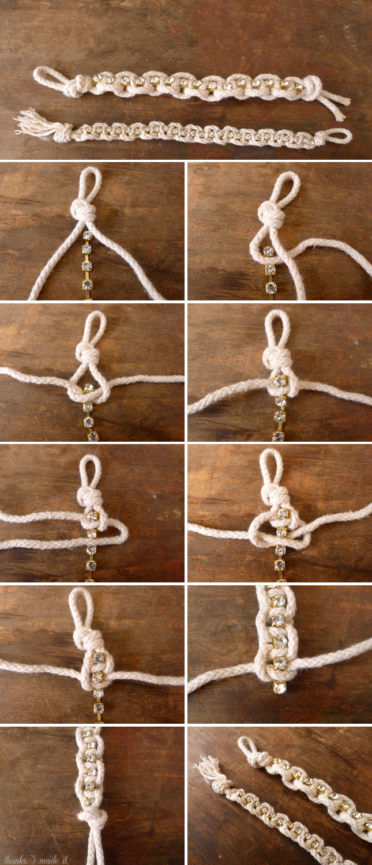 Accesorios de Moda: DIY pulsera de cordón de rhinestone