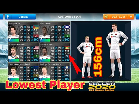 Dls 2020 Get Lowest Player Team In Dream League Soccer Cầu Thủ Lun Thấp Nhất Dls Games Gaming Youtube Youtube Game