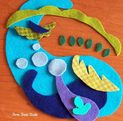 Three Sheep Studio: How To Applique With Wool Series - Part 2