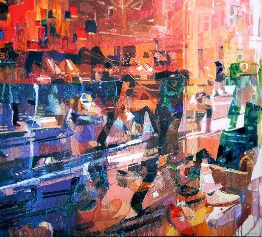 Colin Davidson.........Window (Grafton Street, Dublin)  2008 acrylic on canvas 142 x 152 cm