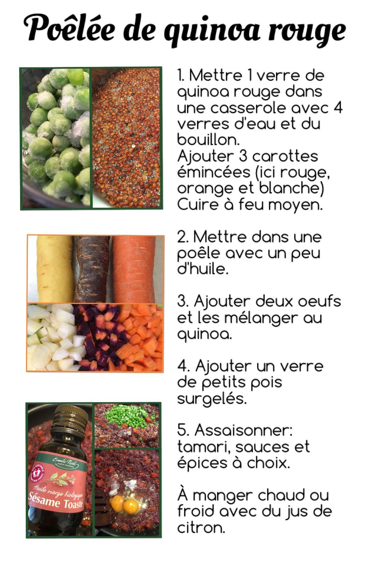 Poêlée de quinoa rouge