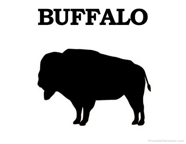 Printable Buffalo Silhouette