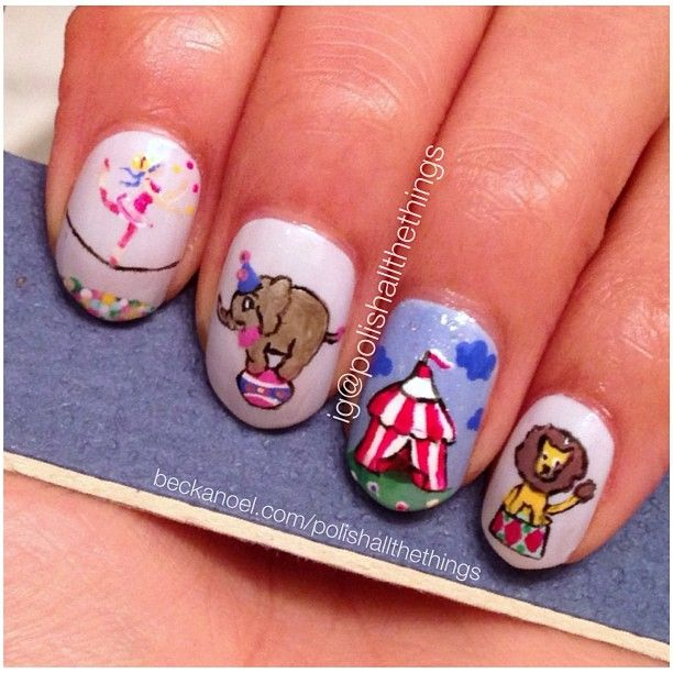 Nail Art Terdekat Dari Sini: Polishallthethings CIRCUS #nail #nails #nailart