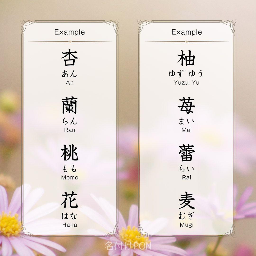 名前 漢字 の 植物