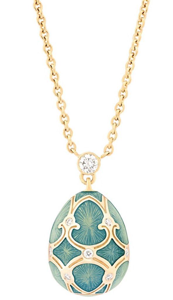 Faberge Heritage Fine Jewellery Egg Pendant Palais Tsarskoye Selo Turquoise Small #fabergé #necklaces