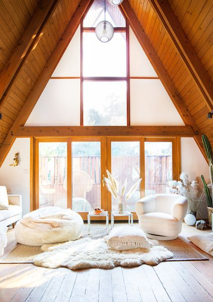 Window Treatment - This Hollywood Hills A-Frame Home Is Magical - Photos