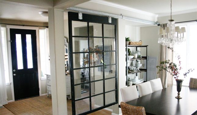 Love this partition idea for a small space!  Divide and Conquer: 24 Wall Partitions via Brit + Co.