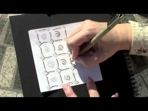 Sunny Grid Pattern and Tangley Tips (Rainbowelephant.com)