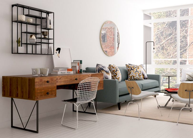 Work From Home: 9 Places to Put an Office in the Living Room images