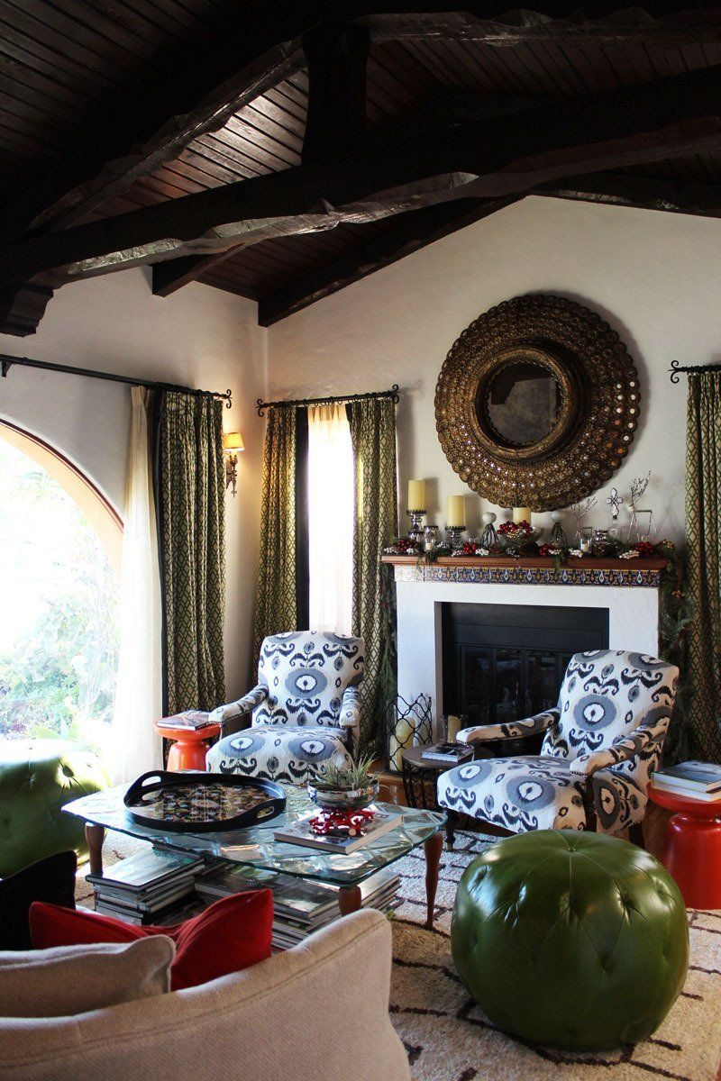 Adrianna Paul S Eclectic Perfection Home Mediterranean Home Decor Home Spanish Style Homes #puffs #for #living #room