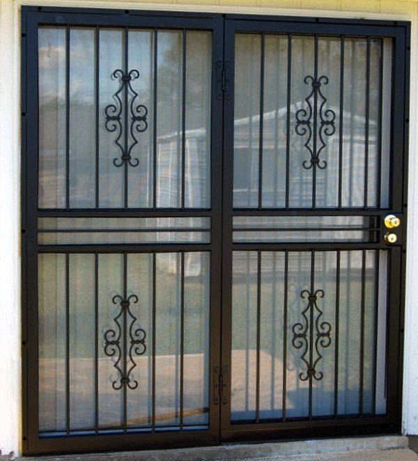 Security patio doors door designs plans door design for Metal window designs