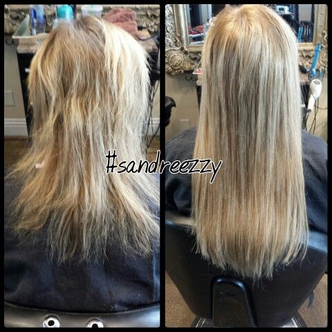 color and full head of extensions