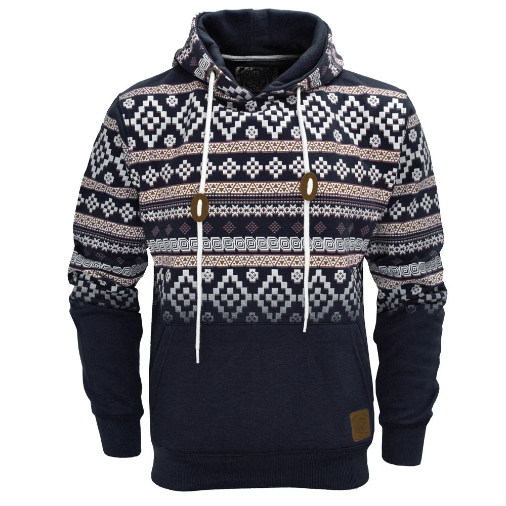 abc22b015cd1 Tribal Print Hoodie Men | ... Aztec Print Pullover Hoodie Hoody Hooded Top  Mens Size S-XL | eBay