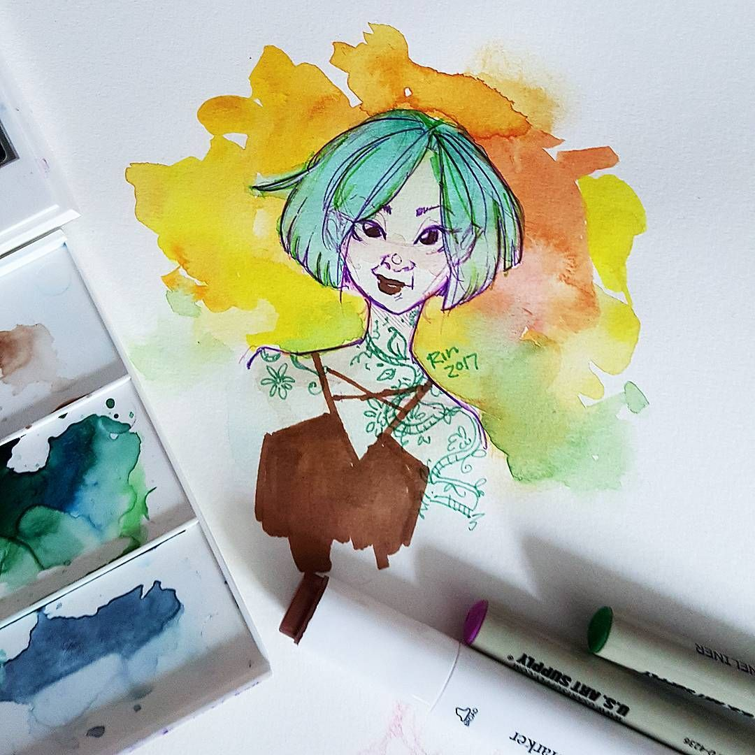 Playing With My Watercolors Again I Call This One Color By The