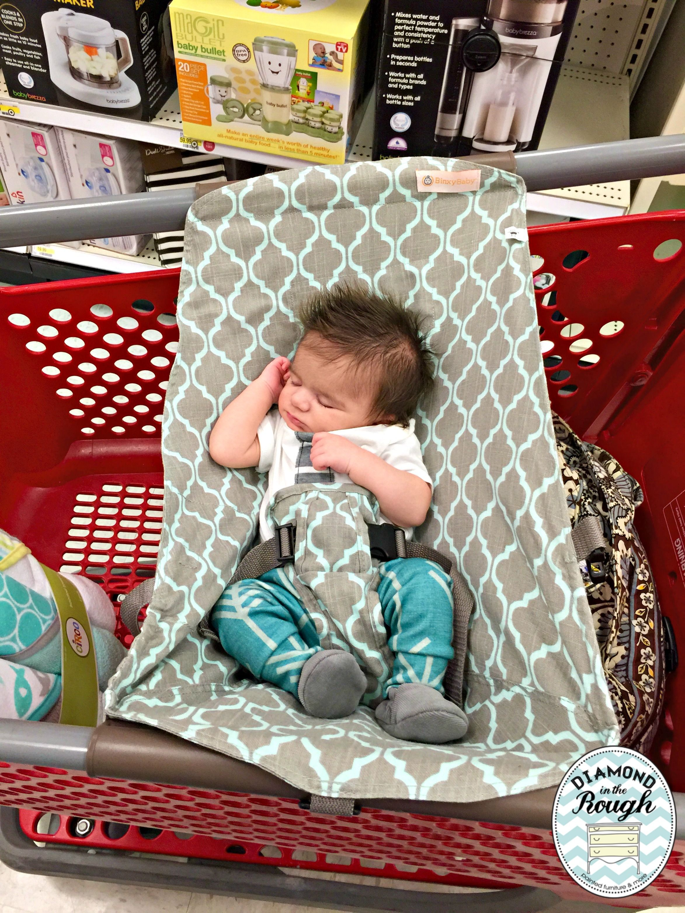 Baby shopping cart hammock lull and keep your little baby