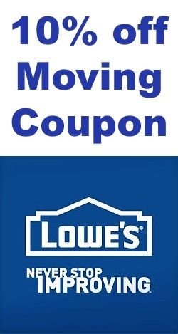10 off moving coupon lowes