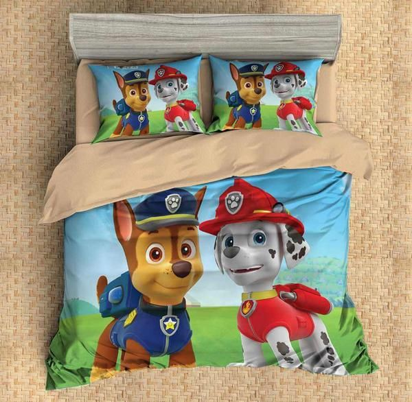 3D Customize PAW Patrol Bedding Set Duvet Cover Set Bedroom Set Bedlinen - Paw patrol bed set, Paw patrol bedding, Duvet cover sets, Duvet bedding sets, Duvet covers, Linen bedding - Filling  6)Free Shipping By DHL,Fedex,UPS Express,Safe and Fast Pls Don't Forget Give Us Your Phone No  Before You Take Order,Pls Check The Size Chart Below Twin Size(2 pcs) 1 pc duvet cover172218cm(6886inch) 1 pc pillowcase5075cm(1929inch) Full Size(3 pcs) 1 pc duvet cover200229cm(7990inch) 2 pcs pillowcase5075cm(1929inch) Queen Size(3 pcs) 1 pc duvet cover228228cm(9090inch) 2 pcs pillowcase5075cm(1929inch) King Size(3 pcs) 1 pc duvet cover259229cm(10290inch) 2 pcs pillowcase5075cm(1929inch) California King Size(3 pcs) 1 pc duvet cover264239cm(10494inch) 2 pcs pillowcase5075cm(1929inch) Specification 1)100% Microfiber Polyester,soft,comfortable and durable  2)Reactive Dying,NonFading,NonPilling, NonWrinkle  3)Fabric Density130x70,Fabric Count50x50 4)Best choice for your unique bedroom Care Machine Wash in Cold, Dry on Low