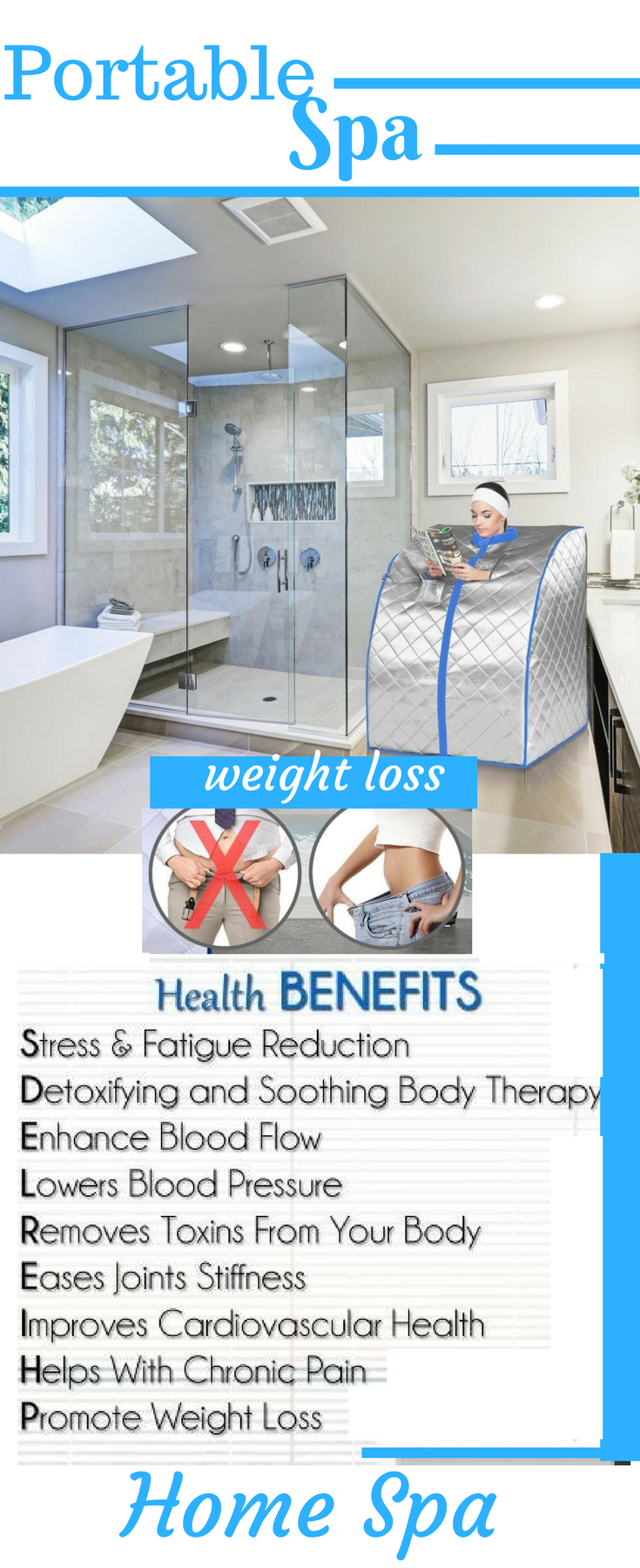 Portable Infrared Home Spa   One Person Sauna for Detox & Weight ...