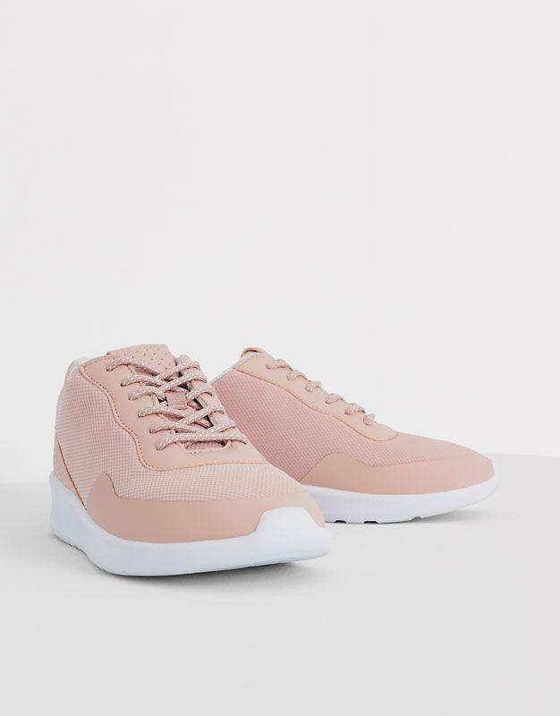 Fabric Sneakers Trainers 20 Sales Woman Pull Bear United Kingdom Sepatu Hak Tinggi Sepatu