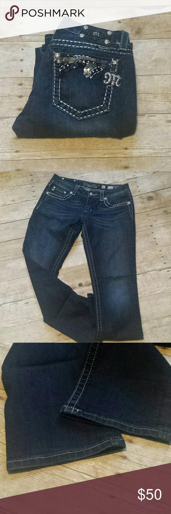 "Miss Me Straight Leg Bling Jeans! Miss Me Straight Leg Bling Jeans! Size 30, inseam 31"". EUC. Miss Me Jeans Straight Leg"