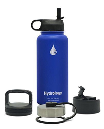 7e4de3e710 Hydrology - 32 oz or 40 oz with 4 LIDS Double Wall Vacuum Insulated  Stainless Steel