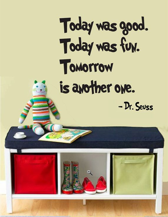 today was good dr seuss quotes wall sticker reading room decor ...