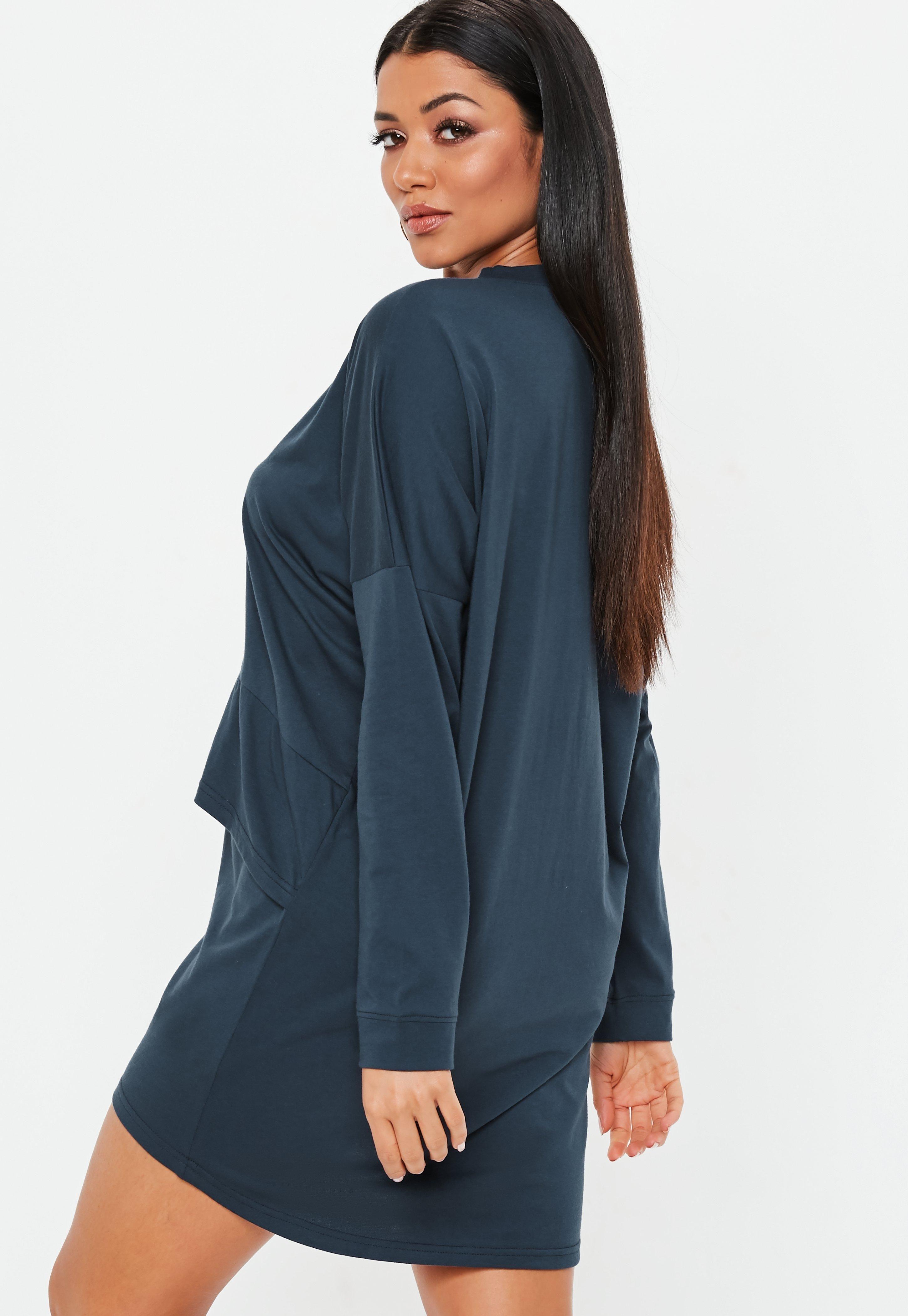 f7da6f2feba58 Navy Oversized Jersey Overlay T Shirt Dress #Sponsored #Jersey, #sponsored,  #Oversized, #Navy