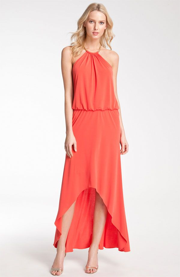 0fb903d51fccf High low hem and a gorgeous coral color make this a perfect summer dress!
