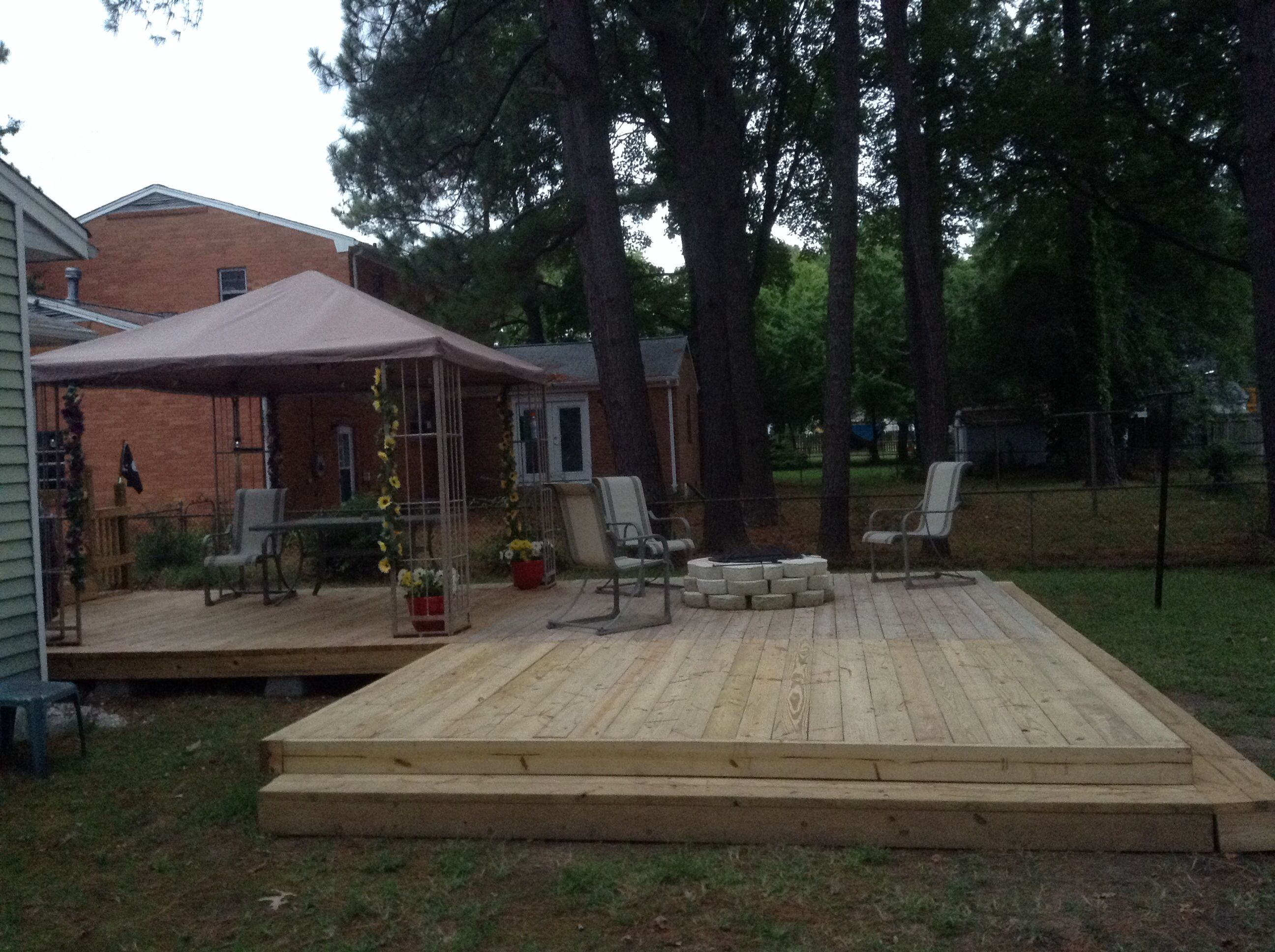 L Shaped Deck 12x12 Gazebo 12x12 Fire Pit L 12x12 Added For Pool In Summer L Shaped Deck Ideas Wood Deck Pergola