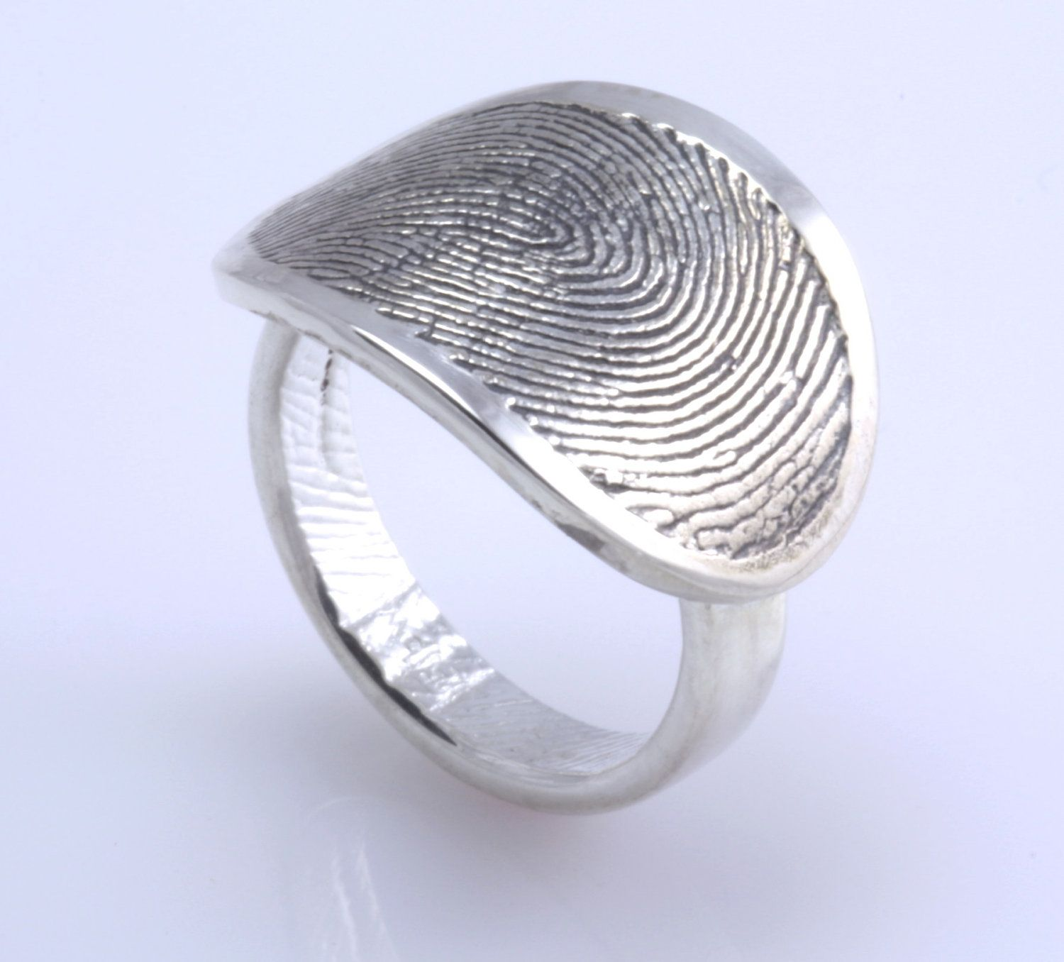 diamond wedding promise fingerprint rings mens in popular platinum men