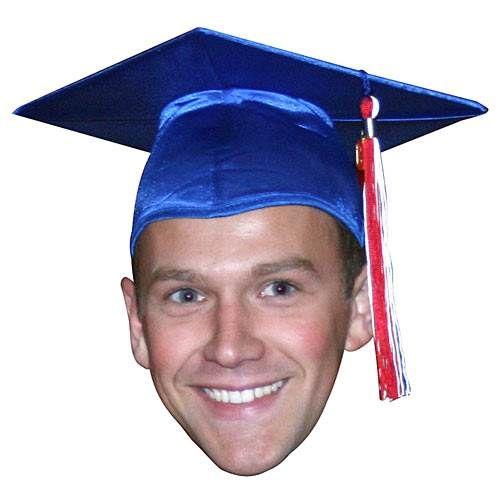 36 in graduation big head cutout big