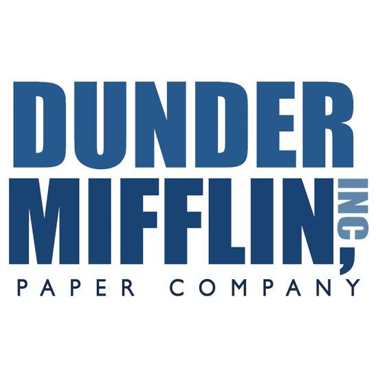 photo relating to Dunder Mifflin Name Tag Printable known as Dunder Mifflin The Business Brand Sticker electronic The